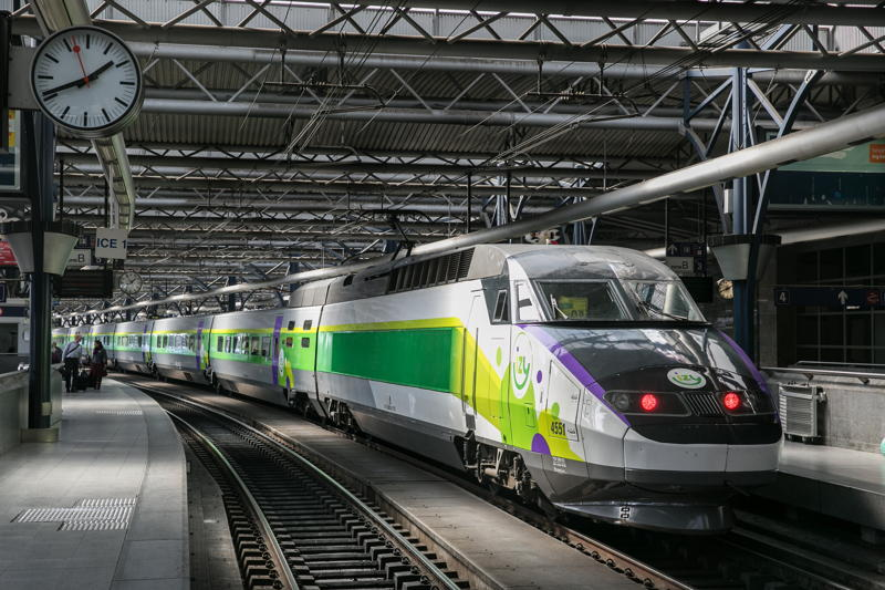 The IZY train in the station
