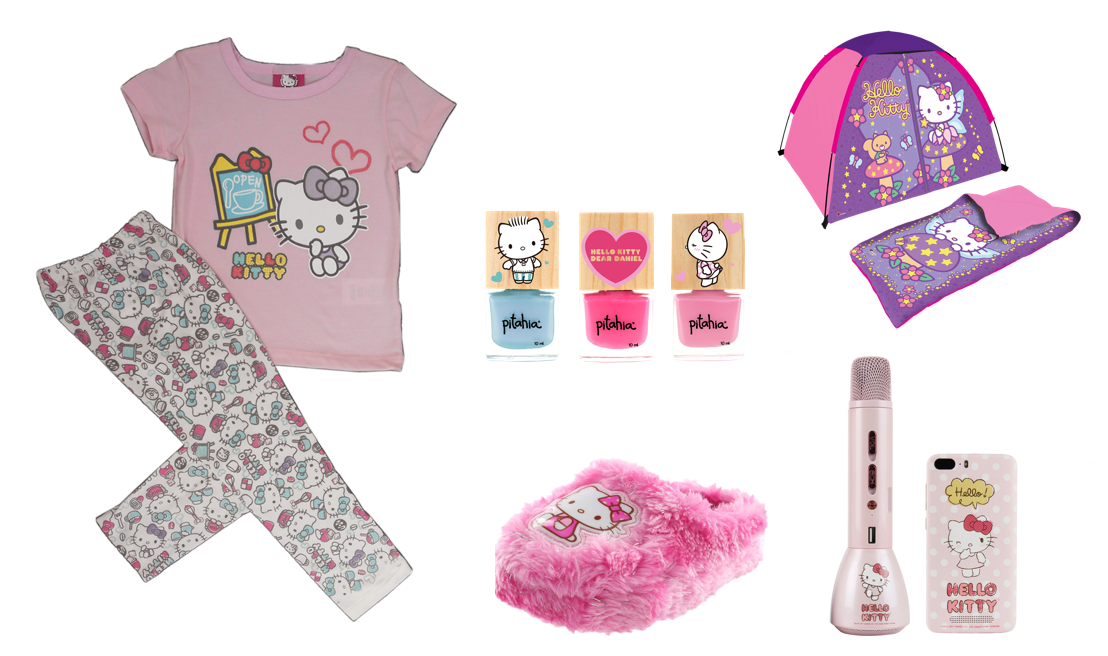 Logra una pijamada de ensueño con Hello Kitty