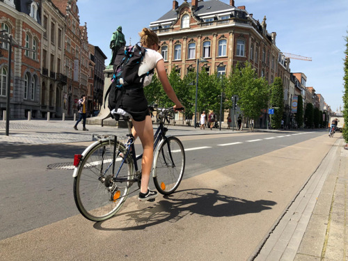 Extra fietssuggestiestroken in twaalf Leuvense straten