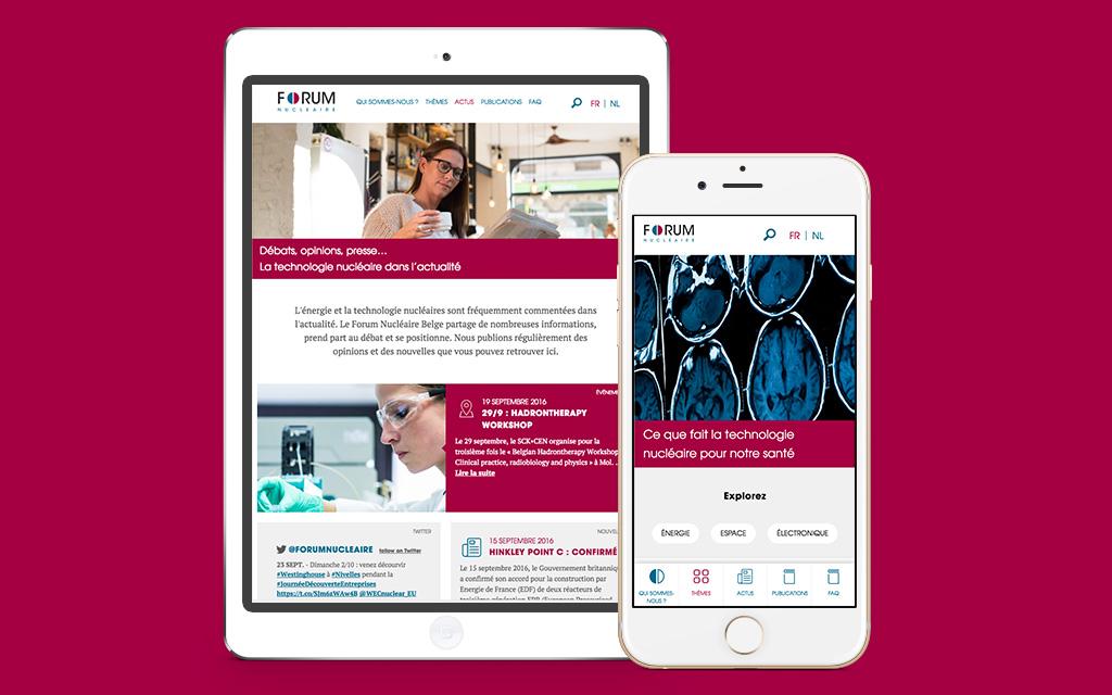 Regardez le site sur mobile devices