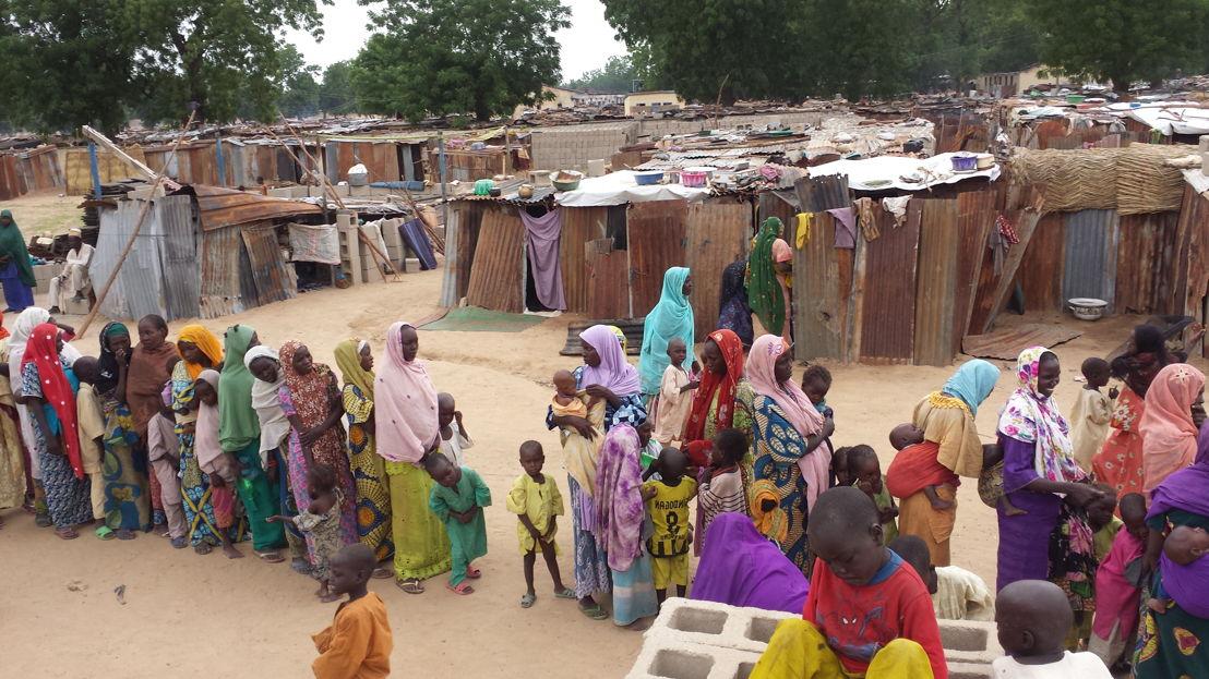 In het vluchtelingenkamp in Bama zitten naar schatting 10 000 et 12 000 mensen © Claire Magone/ MSF