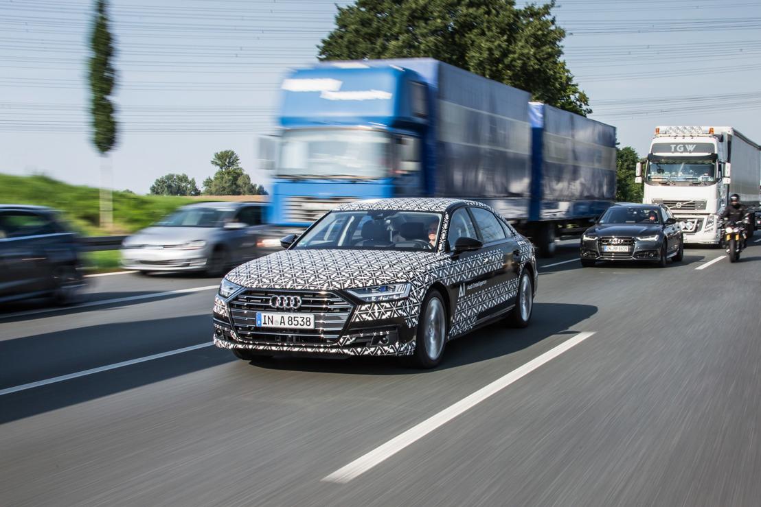De Audi AI Traffic Jam Pilot in de nieuwe Audi A8