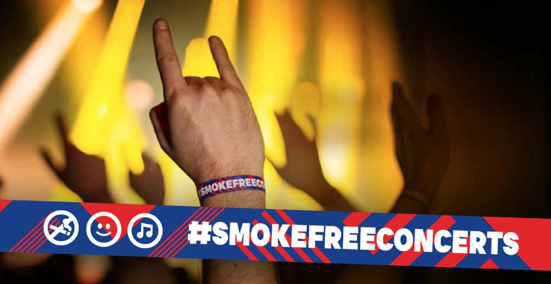 FamousGrey et Kom op tegen Kanker lancent #smokefreeconcerts