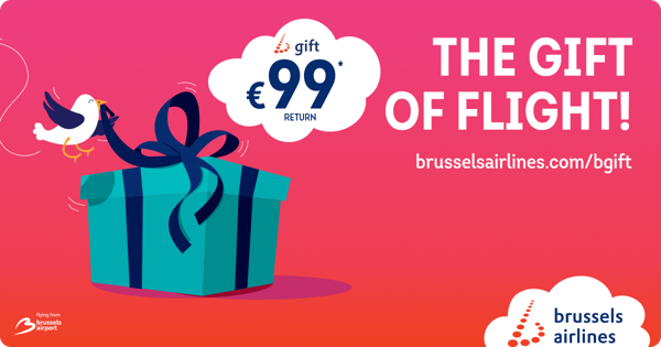 Preview: Brussels Airlines relaunches b.gift, the most original holiday present
