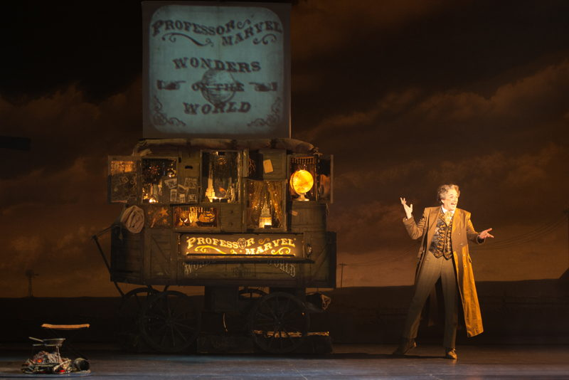 """Mark A. Harmon as Professor Marvel in """"Wonders of the World""""<br/>Photo credit: DANIEL A. SWALEC"""