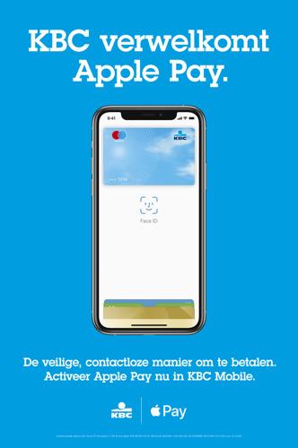 KBC, KBC Brussels en CBC brengen Apple Pay naar hun klanten