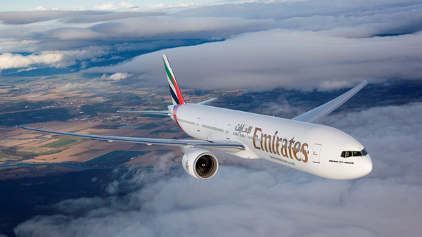 One of Emirates' fleet of Boeing 777-300ER's which will be operating to Chicago from 1st May 2015