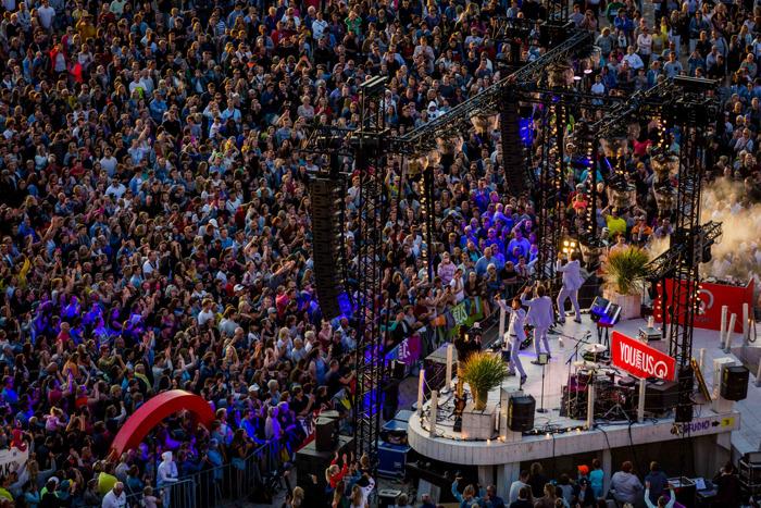 12.000 mensen gaan uit hun dak op het eerste Foute Sunset Concert van Qmusic