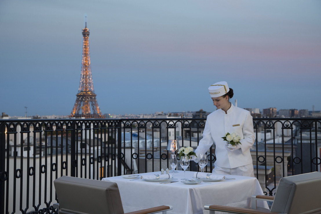 THE PENINSULA PARIS: SECRET TABLE EN EL TEJADO