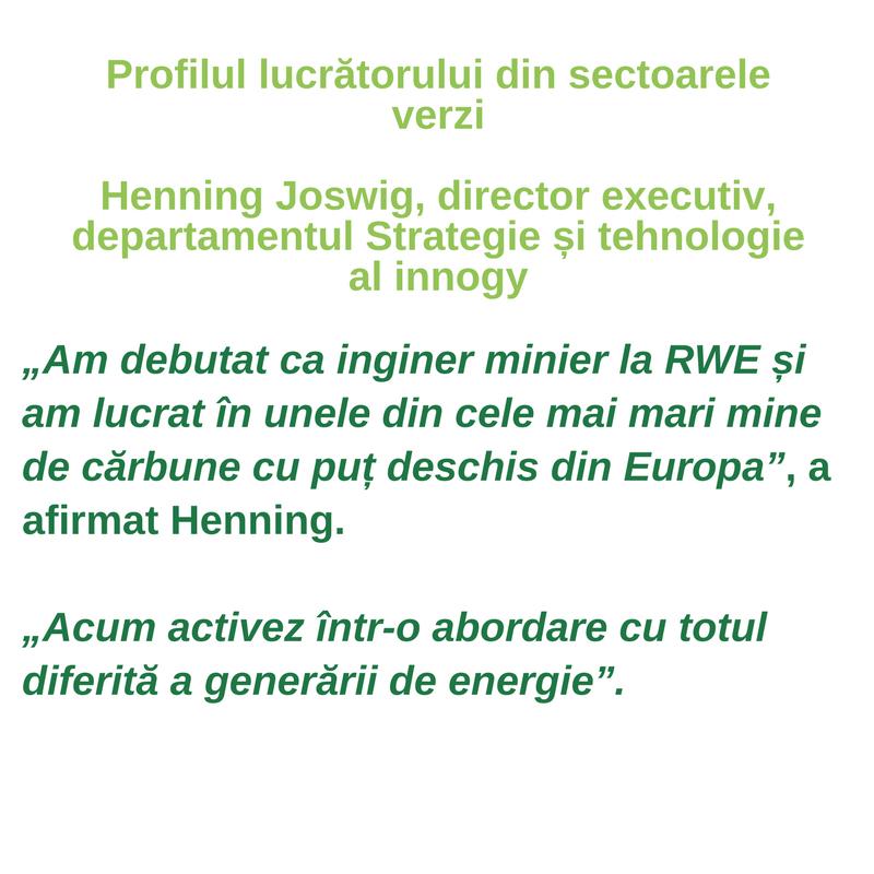 Profilul lucrătorului din sectoarele verzi - Henning Joswig