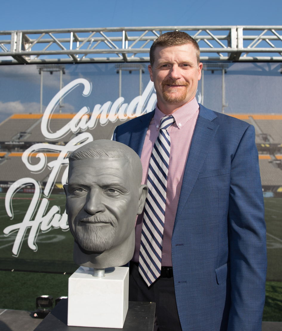 Mike O'Shea, Canadian Football Hall of Fame Class of 2017. Photo credit: Kevin Sousa/CFL