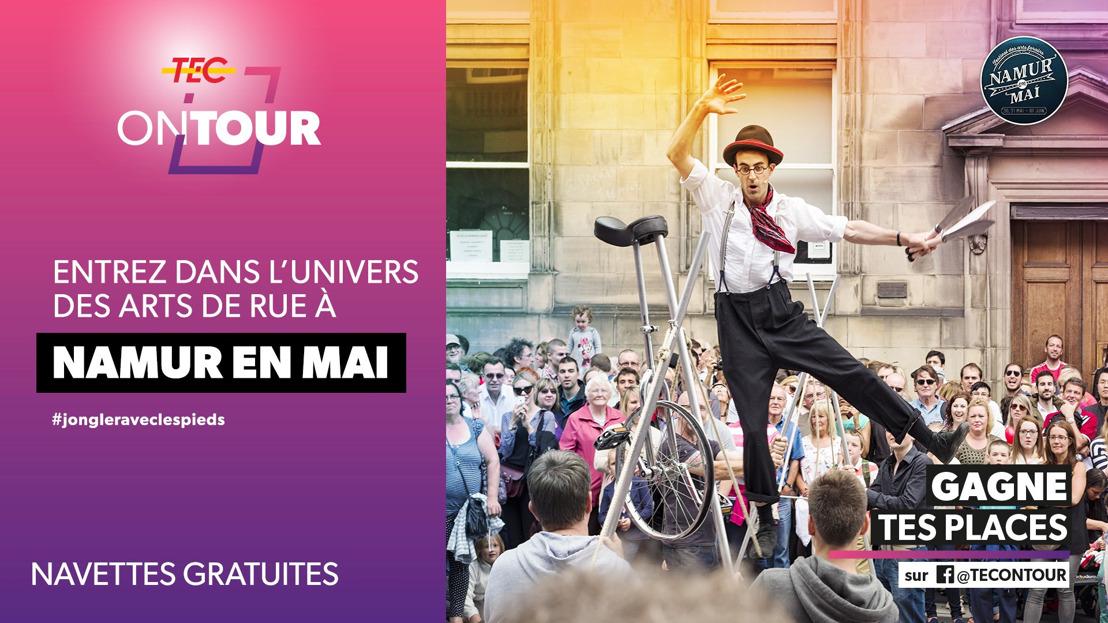 """""""Namur en Mai"""" en toute simplicité grâce aux navettes gratuites."""