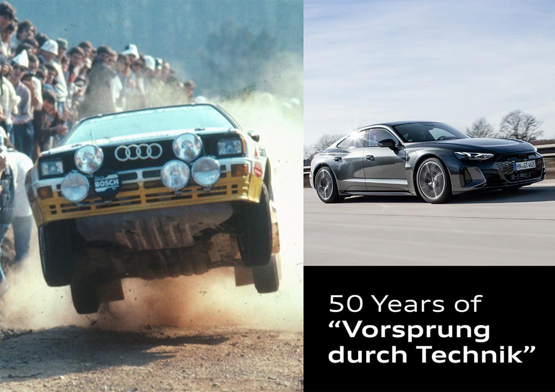 Audi viert 50 jaar 'Vorsprung durch Technik'