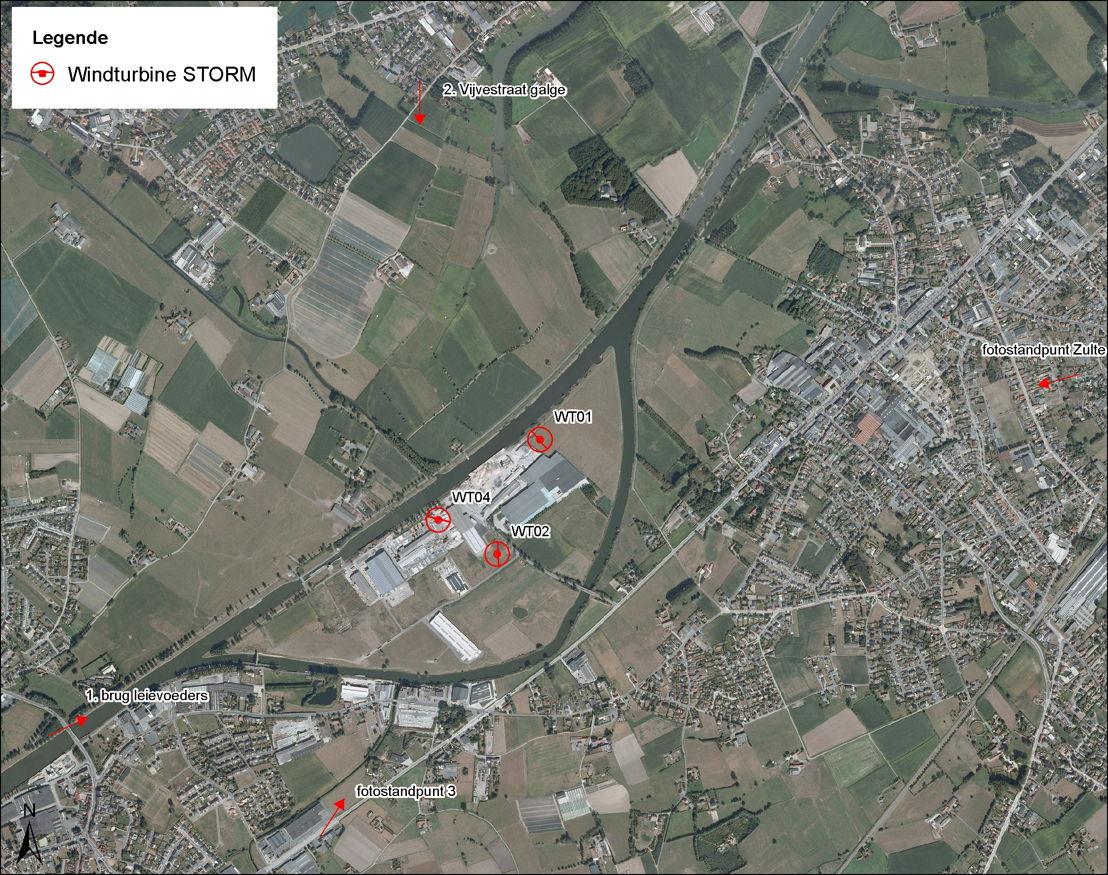 Inplanting Storm-windpark Wielsbeke