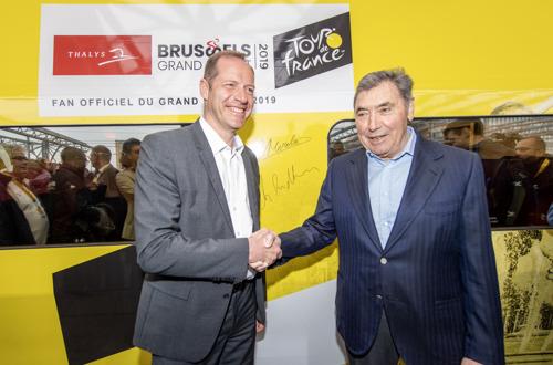 A 100 jours du Grand Départ de Bruxelles, Thalys dévoile une rame aux couleurs du Tour de France