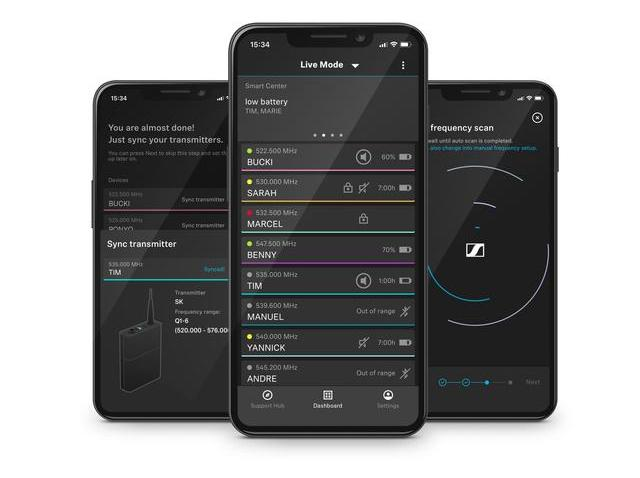 The engineer in your pocket: The Smart Assist App guides users through the set-up of their wireless microphone system