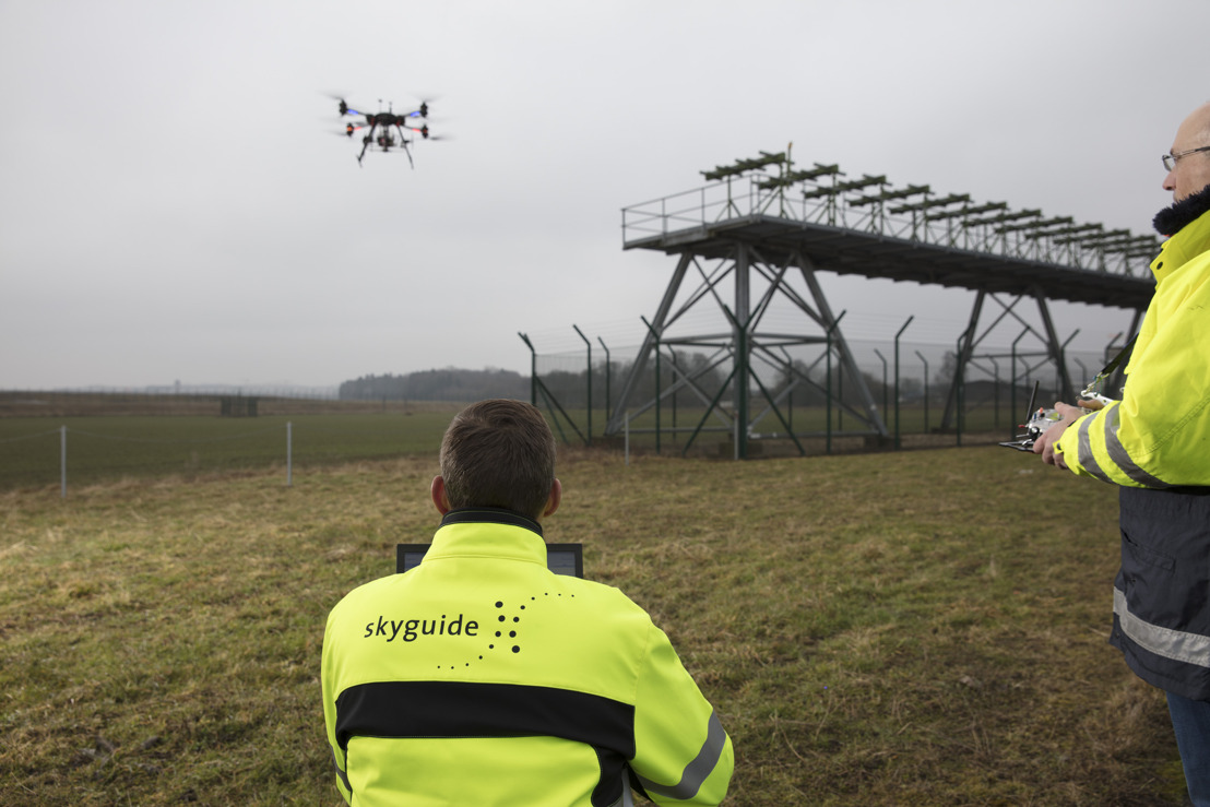 skeyes uses CNS drone developed by Skyguide
