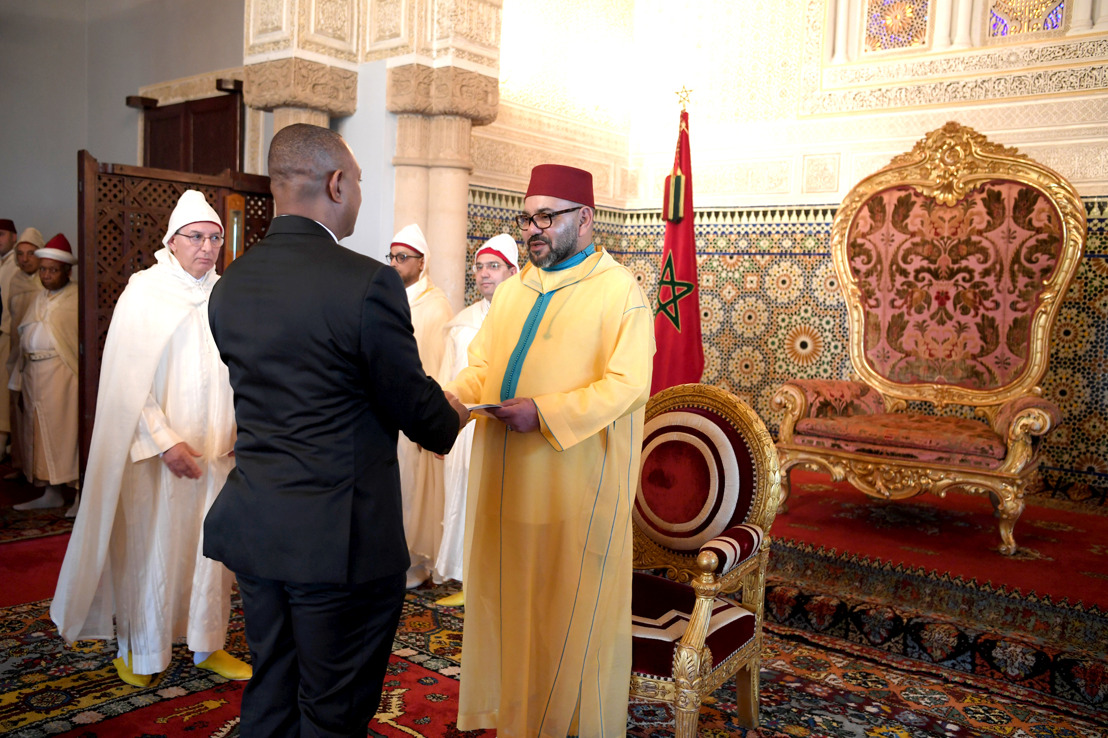 AMBASSADOR OF THE EASTERN CARIBBEAN STATES PRESENTS LETTERS OF CREDENCE TO HIS MAJESTY KING MOHAMMED VI OF MOROCCO