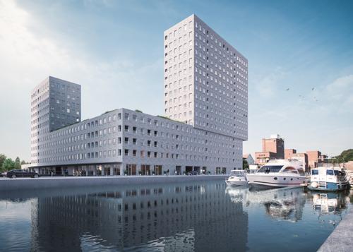 Zestien nieuwe stadswoningen aan de Vaartkom