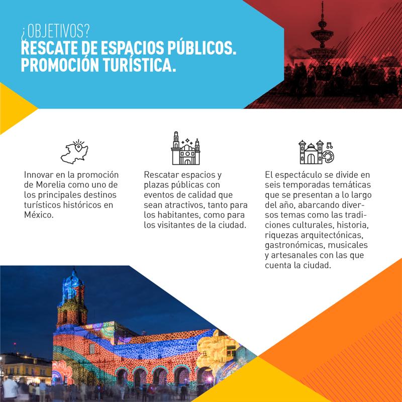 Mapping en Morelia: Rescate de espacios públicos y promoción turística