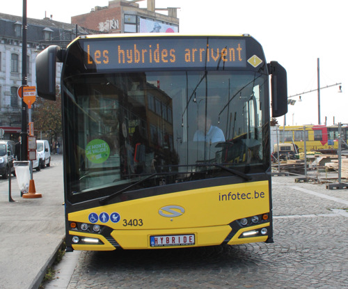 Des bus hybrides au TEC Direction Hainaut