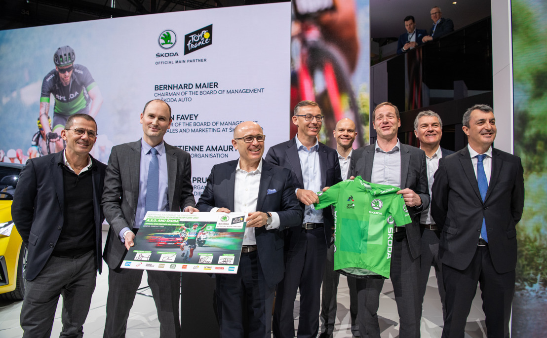ŠKODA extends sponsorship deal with Tour de France organiser A.S.O. until 2023