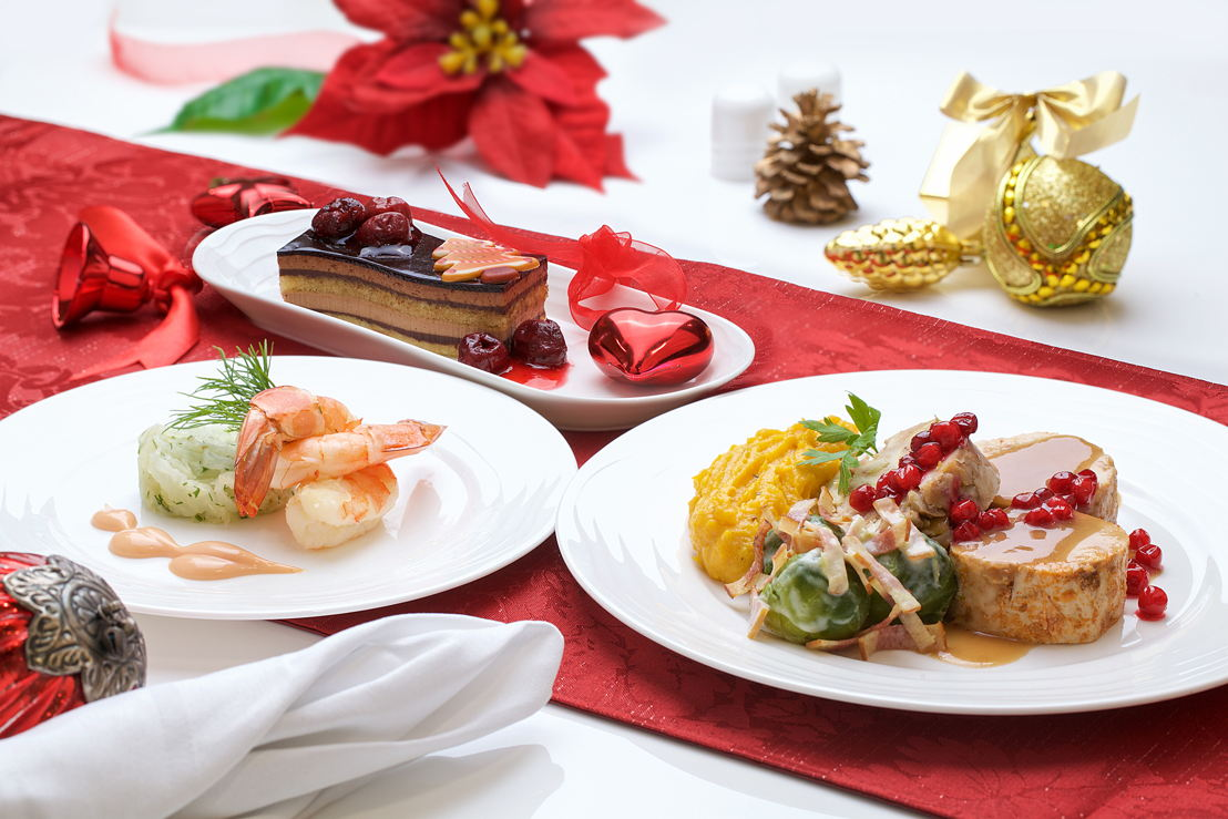 Emirates First Class Festive Menu