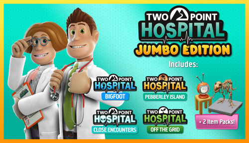 TWO POINT HOSPITAL: JUMBO EDITION LAUNCHING ON CONSOLES 5TH MARCH 2021!