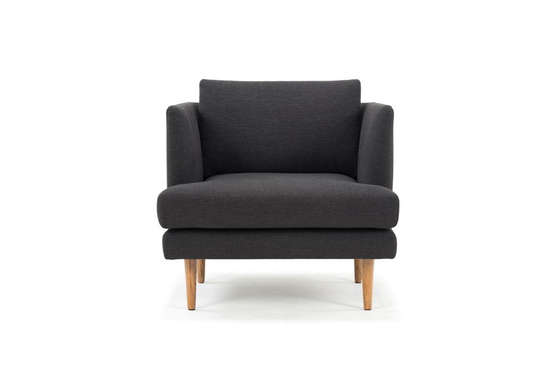 Floyd, Chair, Lulu Black, Smoked Oak legs