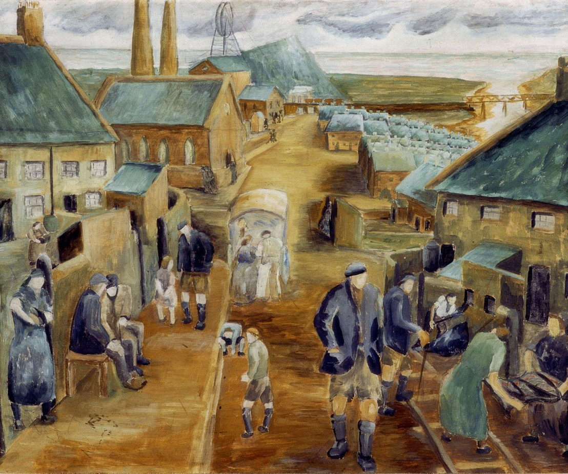 Ashington Group (Pitmen Painters) art by Harry Wilson (miner)