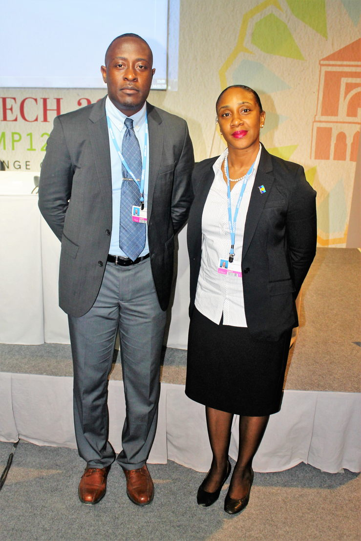 Mr. Chamberlain Emmanuel, Head of Environment Sustainability Cluster and Mrs. Norma Cherry-Fevrier, Programme Assistant, Environment Sustainability Cluster represent the OECS at COP22 in Marrakech, Morocco