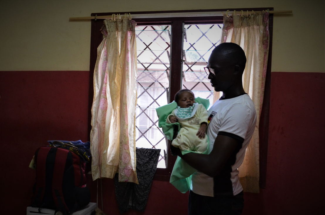 Jeski, aged 27, economics and maths teacher, currently unemployed<br/>His daughter Jesblim, aged 14 days, born at the Centre de Santé de Castors <br/>Combattants neighbourhood, Bangui<br/><br/>&quot;My wife, Sublime, gave birth to our first child, a girl called Jesblim, two weeks ago. We had our prenatal check-ups at the Hôpital Communautaire, one of the big hospitals in Bangui. When my wife became pregnant, we knew she had to be seen at a medical centre, but as it was our first child everything was new, and we didn't know where to look for the best care, or what prices we would have to pay.<br/>My wife first went to the hospital, where they said she had to undergo various prenatal examinations. I managed to pull together the money that we needed for what had to be done: examinations, consultations, buying a health card, etc. Whenever I managed to get some money, I paid for some tests. Then, when I earned a bit more, I came back to pay for some more. In total I paid CFA 45,000. You can do quite a bit with that much money: it pays for a month's worth of food for a family of four, a year of school for our child at a good private school…<br/>Sublime carried on following the various steps until the eighth month of her pregnancy, when we realised that her treatment was not appropriate, even though we were paying for it, and paying a lot. My wife therefore decided to go to the Centre de Castors.<br/>Sublime went for a consultation, and they told her to come back once she went into labour. When the day came, she was able to give birth without problem, but she had to have a caesarean section. There's no way she could have had this operation anywhere else, because an operation is expensive, and I am unemployed, I don't have any money, I just to odd jobs here and there.<br/>It's hard for people here to afford these expenses, and I am no exception. Sometimes you have money, sometimes you don't; and when you don't, you can't get treatment. You have to jump through hoops to be able to go to the hospital.<br/>For young people today, it's not easy to find a job. When you go into the neighbourhoods, you'll see the young people. They are there early in the morning. At midday they are still there, under the mango tree. They are there until the evening.<br/>I finished my studies a long time ago, but I found it difficult to get a steady job. I give maths and economics lessons at people's homes. It's OK, but sometimes it isn't. Often, I agree a price with a client, he accepts, I teach his child well, his results are good, but come the end of the month the boss tells me he has financial problems, that he can't pay me. And I have to feed my family at home. I have to keep 10 people going at home: my mother, my family and my younger brother's family. All those people depend on me.<br/>Would we like to have more children? We have to be realistic. It costs money to have children. Yes, the treatment at MSF is free, but will MSF always be around? What will happen to us tomorrow if MSF is not there anymore? If you don't have money in your pocket to pay the CFA 100 for pills that will save you, you just die. That's scary. So you can't just have children for the pleasure of having them. You have to be realistic first.&quot; Photographer: Sandra Smiley