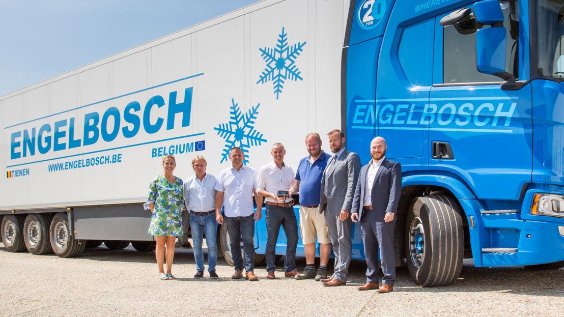 Van links naar rechts: Peggy Willems, Jesus Boeckx, Diederik Brutsaert, Hans Cousserier, Michel Engelbosch, Koen Van Ballaert en Yannic Hönle.