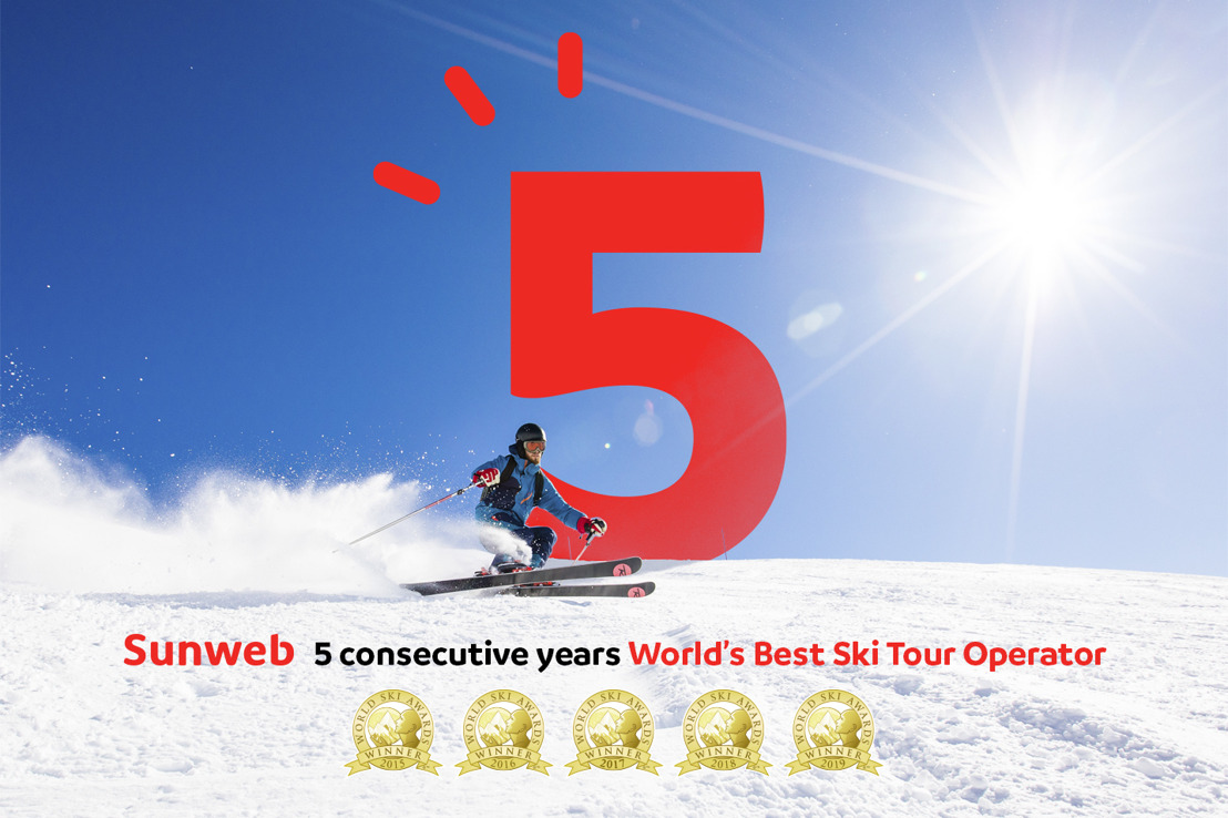 Et de 5 pour Sunweb : une nouvelle fois élu Meilleur Tour Opérateur Ski du Monde !