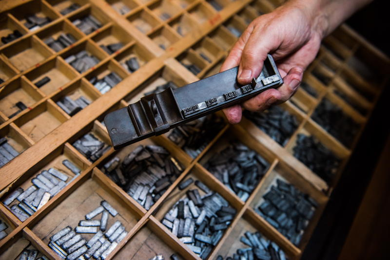 Museum Plantin-Moretus, typography collection, photo: Noortje Palmers