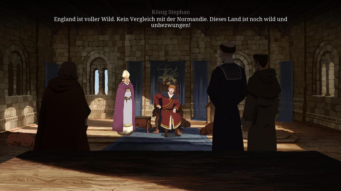 Philip (rechts) bei einer Audienz beim König