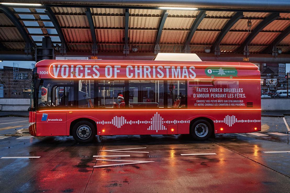 De MIVB & mortierbrigade zenden wensen uit met een kerstkoor