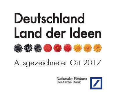 """Essener Unternehmen shine ist Preisträger des Wettbewerbs """"Ausgezeichnete Orte im Land der Ideen"""" 2017"""