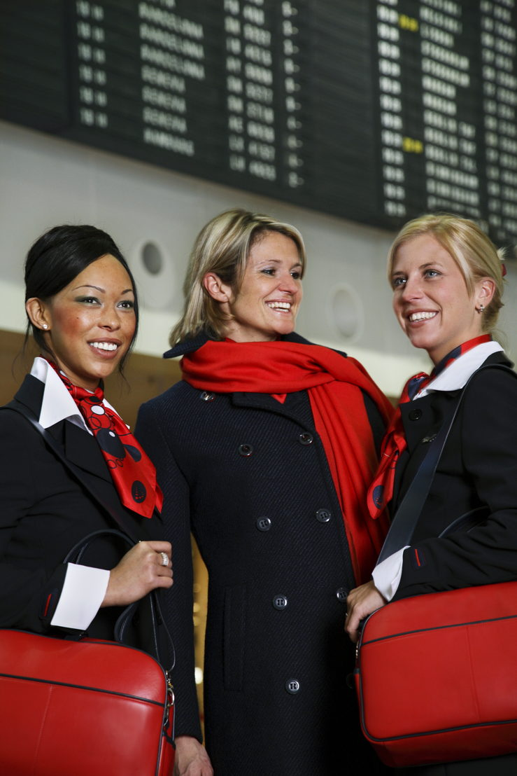 Brussels Airlines crew today
