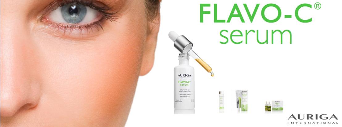 Auriga, het 1ste Belgische dermocosmetische merk, viert de 15de verjaardag van haar anti-agingsserum  FLAVO-C®