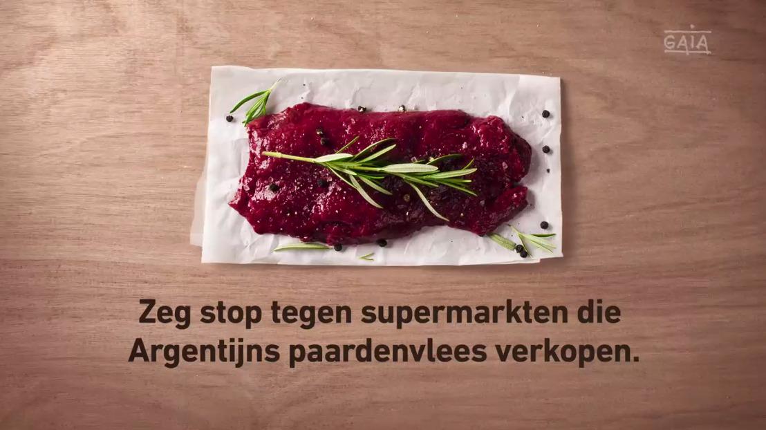 GAIA lanceert tv-spot tegen verkoop Argentijns paardenvlees