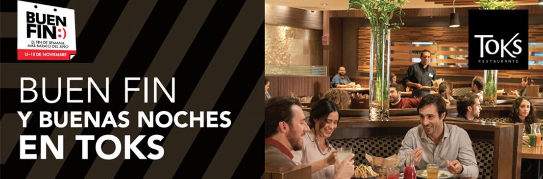 Por El Buen Fin, Toks tendrá una promoción con el 20% de descuento en cenas, en sus 50 sucursales dentro de centros comerciales en México