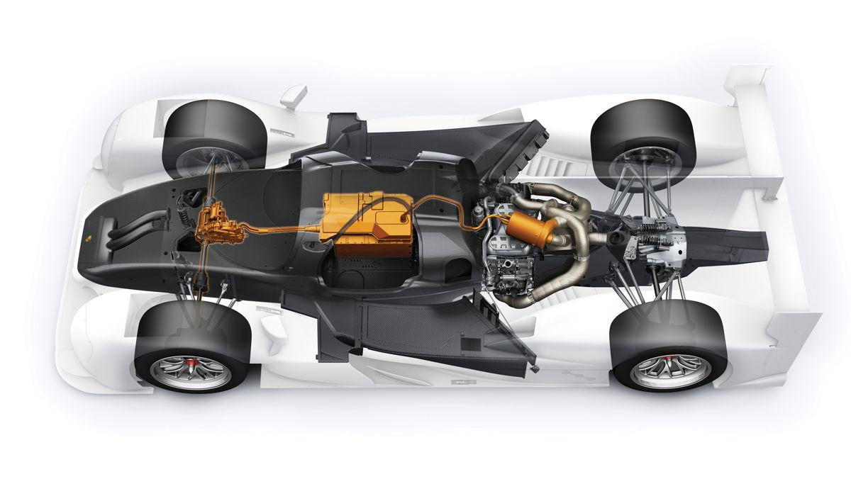 El sistema de propulsión híbrido del Porsche 919 Hybrid genera una potencia total cercana a los 1.000 CV.