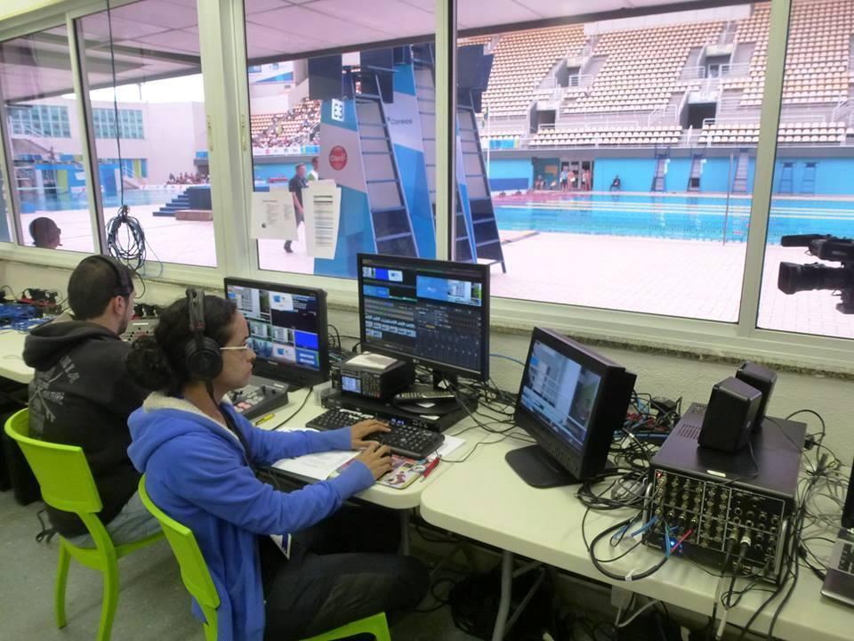 JJOO Río 2016 Centro Acuático - Cuarto de Control
