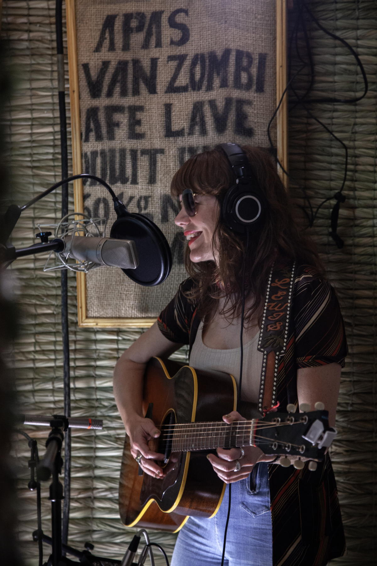 "Jenny Lewis recording ""Under The Supermoon"" In Artists Institute Live Room"
