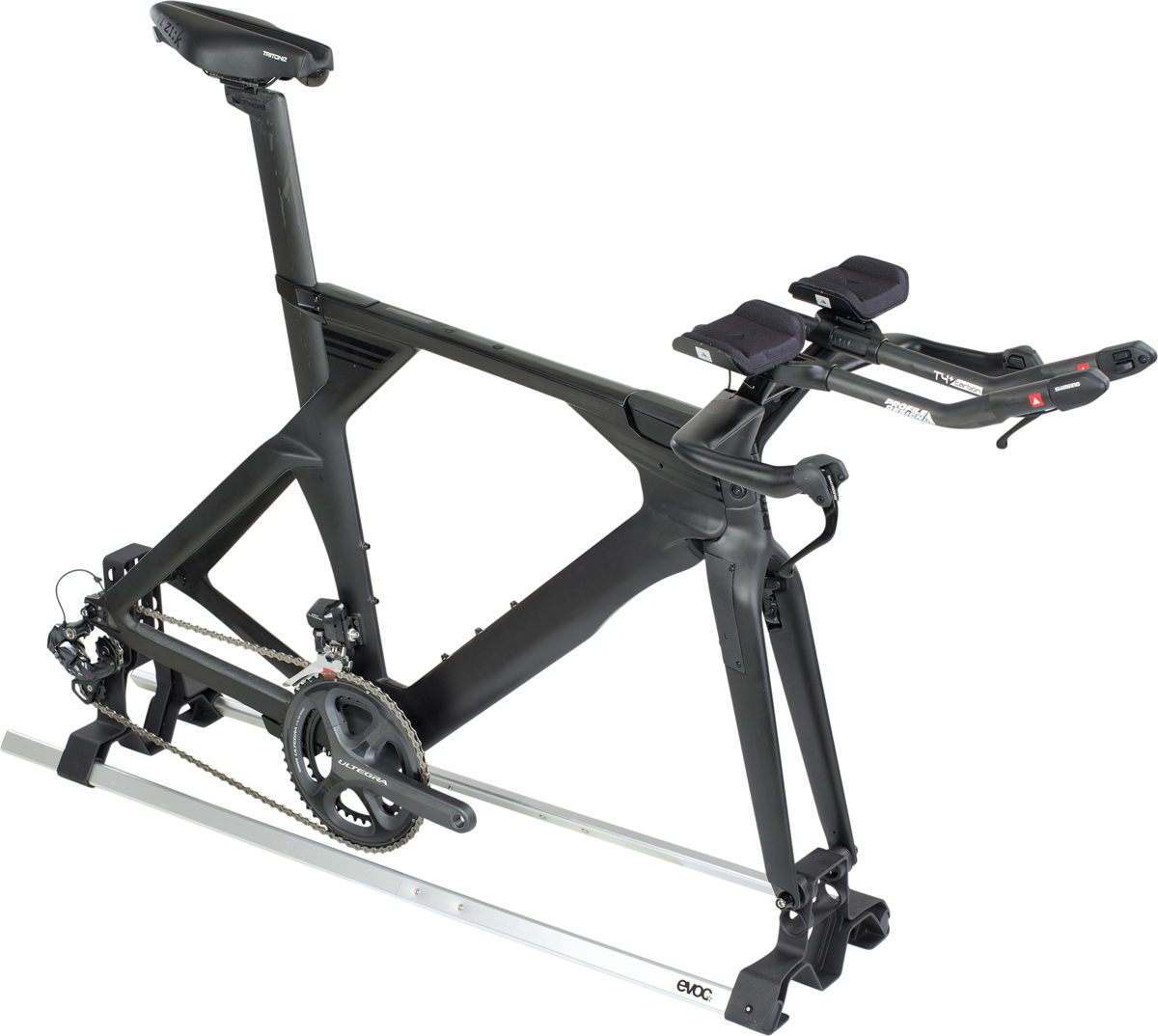 EVOC ROAD BIKE STAND mit Triathlon Rad