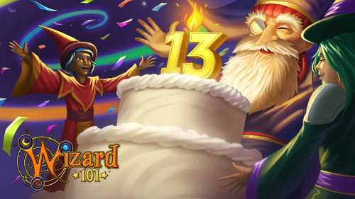 Wizard101 Celebrates 13th Anniversary with Unlimited Access to Select Worlds, Birthday Perks, and more