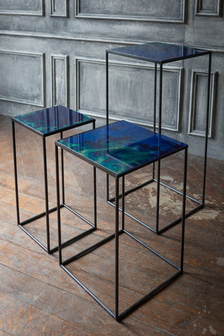 Notre Monde Midnight Crush Compact Side Tables