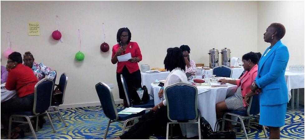 Team Saint Vincent and the Grenadines make a presentation.