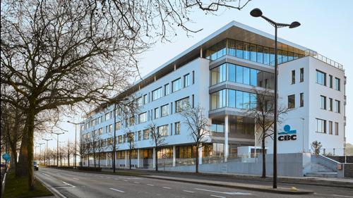 Inhuldiging nieuw hoofdkantoor van CBC Bank en Verzekeringen (KBC Groep) in Namen